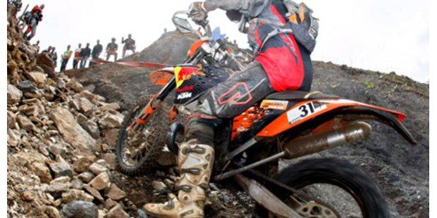 Erzberg: Biker mit Helikopter gerettet