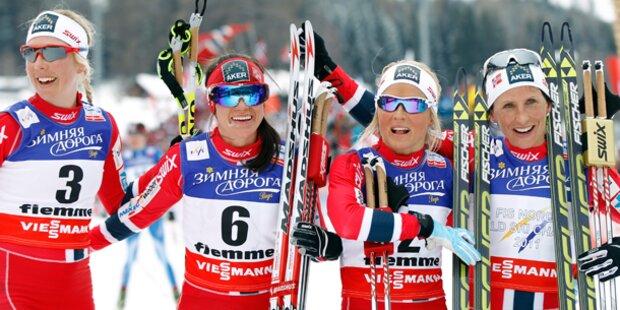 Langlauf  Staffel-Gold für Norwegerinnen e0ac1d9562
