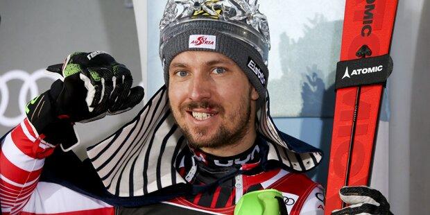 Hirscher rast mit blutiger Lippe zum 65. Sieg