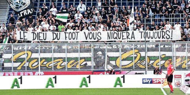 Sturm-Fans treten gegen Salzburg nach