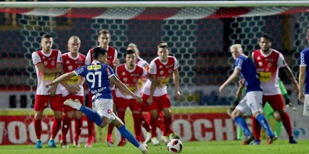 Blau-Weiß Linz bleibt Tabellen-Erster