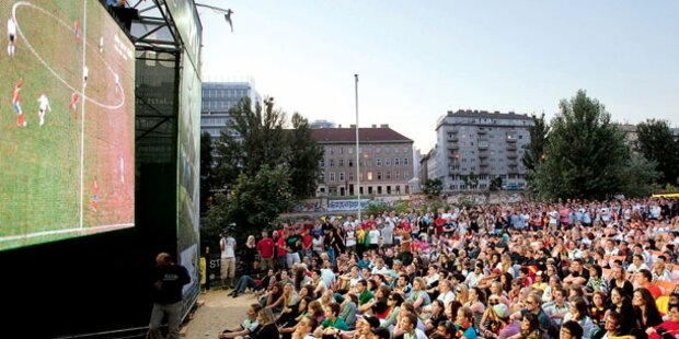 Public Viewing bei der Fußball-WM
