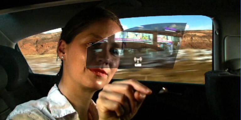 Autofenster wird interaktiver Bildschirm
