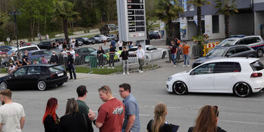 Inoffizielles Treffen: GTI-Fans hielten Polizei auf Trab