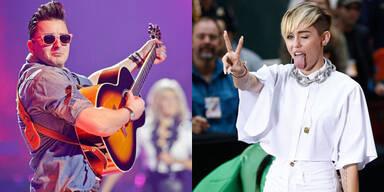 Andreas Gabalier und Miley Cyrus