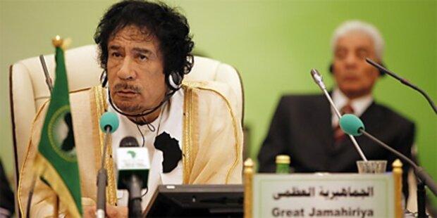 Die Show des Muammar al-Gaddafi
