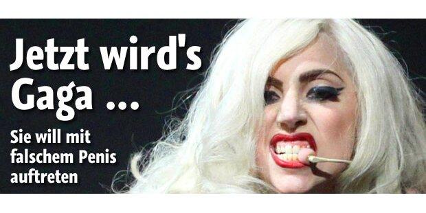 Gaga will mit Umschnall-Penis auftreten