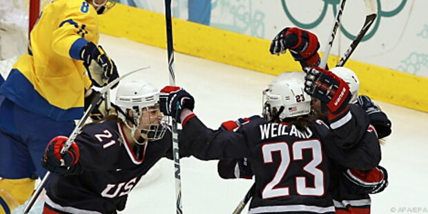 US-Frauen nach 9:1-Sieg im Eishockey-Endspiel