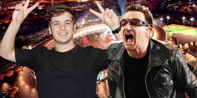 """U2 & Martin Garrix perfomen von """"Zuhause"""""""