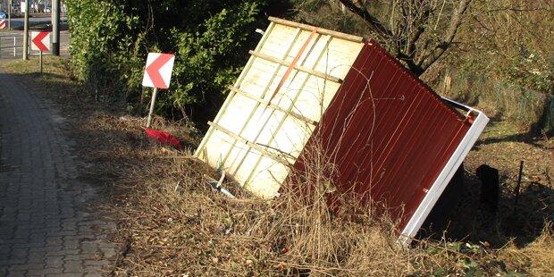 Gartenhaus verloren: Polizei sucht Besitzer