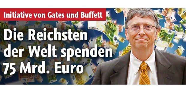 Die Reichsten der Welt spenden 100 Mrd.