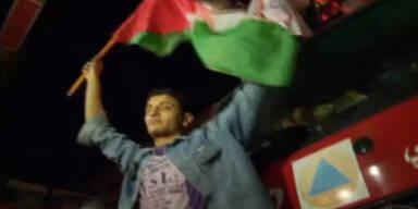 Waffenruhe in Gaza wird gefeiert