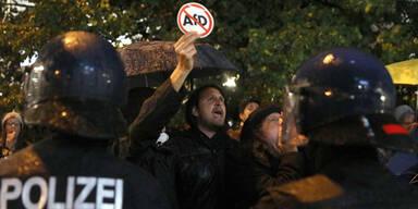 Demo gegen AfD-Wahlparty in Berlin