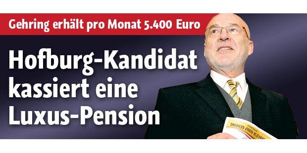 Gehring: Frühpension mit 5.400€ / Monat