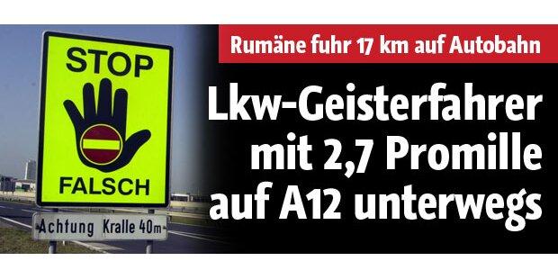 LKW-Geisterfahrer mit 2,66 Promille