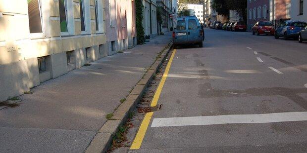 Neue Bodenmakierungen in Salzburg