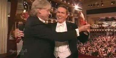 Männertanz: Bob Geldof wagt einen Walzer mit Alfons Haider
