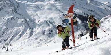 Gemäßigte Pistenabschnitte für die Ski-Zwerge