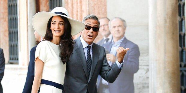 Clooneys Frau hat die Hosen an
