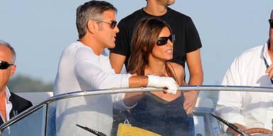 George Clooney & Elisabetta Canalis in Venedig