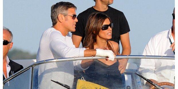 George Clooney & Elisabetta in Venedig