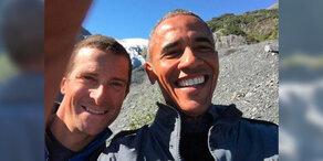 Irre: Obama übt im TV das Überleben