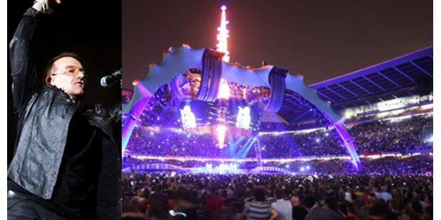U2: Tourneeauftakt vor 100.000 Fans