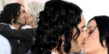 Russel Brand knutscht mit Helen Mirren und Katy Perry