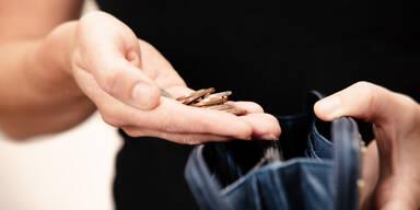 Armut Sparen Brieftasche Kleingeld