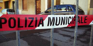 Polizeiabsperrung Italien Mafia