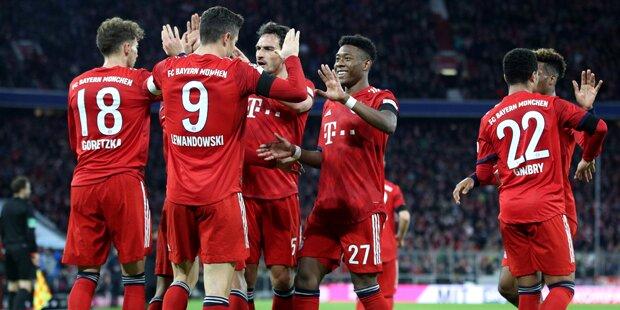 Bayern siegte 3:1 gegen Schalke