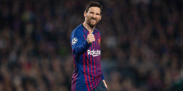 Barcelona bleibt dank Messi auf Triple-Kurs
