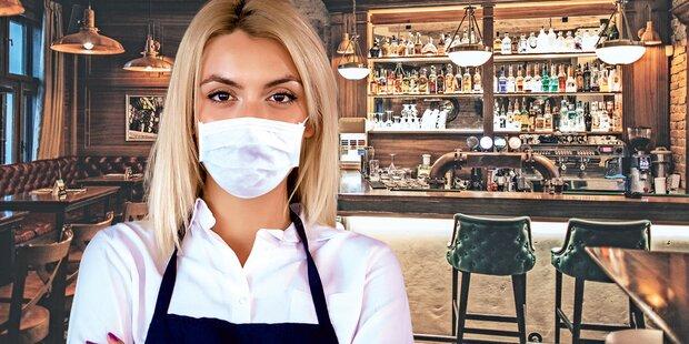 Masken bald zurück in Shops und Lokalen?