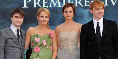 JK Rowling, Daniel Radcliffe, Emma Watson