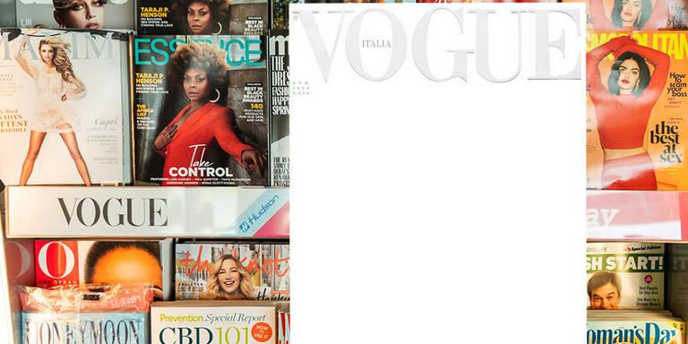Vogue erscheint mit weißem Cover