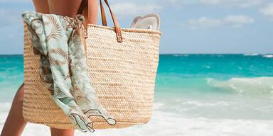 Strandtasche am Meer