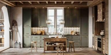 Küche im Cottage-Stil