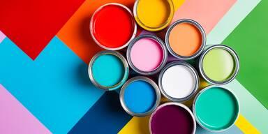 Verschiedene Wandfarben