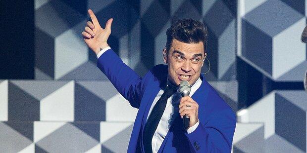 Robbie Williams rockt bei Glock-Reit-Gala