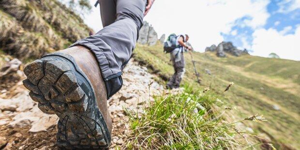 Achtung bei Bergtouren