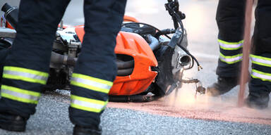 Motorrad Crash Biker Crash Unfall