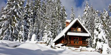 Ferienhaus Berg Schnee