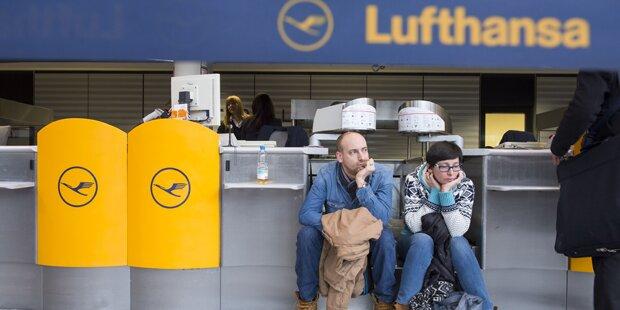 Lufthansa-Streik bis Mitternacht verlängert