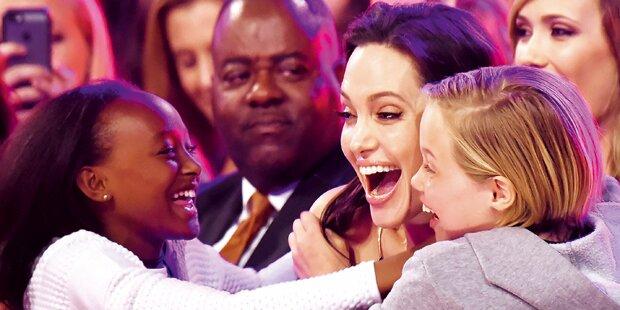 So happy feierte Jolie ihren 40er