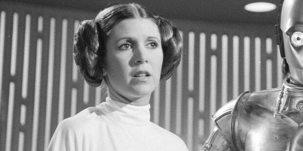 Stars nahmen Abschied von Prinzessin Leia