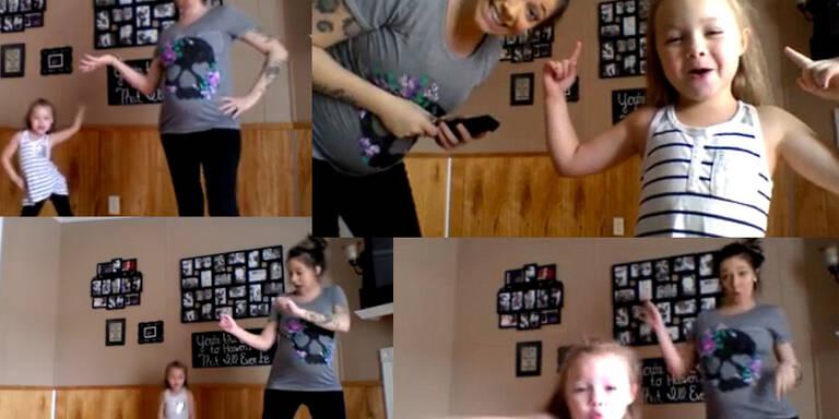 Tanzendes Mutter-Tochter-Duo wird zum Internet-Hit