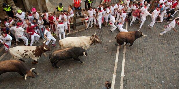 Vier Verletzte bei erster Stierhatz in Pamplona