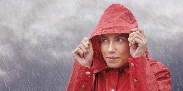 Tief ''Juliane'' bringt uns eine Woche Regen