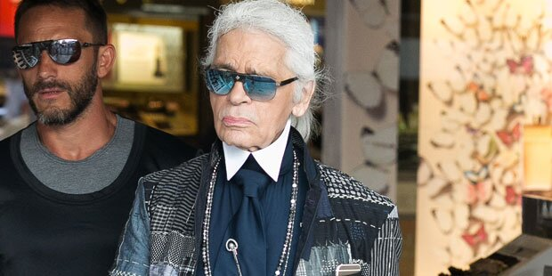 Rätsel um Karl Lagerfeld in Wien