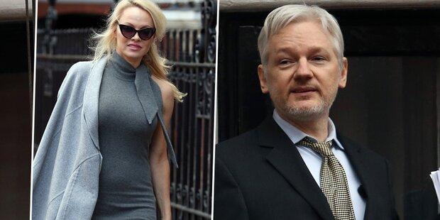 So schwärmt Assange von Pam Anderson
